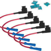 5 pcs Mini CAN TAP Add-a-circuit 15A Car Auto Add A Circuit Fuse ATM Low Profile Blade Style Holder