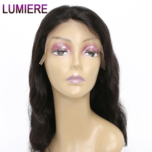 Lumiere Hair Lace Front Human Hair Wigs For Black Women Brazilian Body Wave Wigs With Baby Hair Swiss Lace Remy Hair 12″-20″