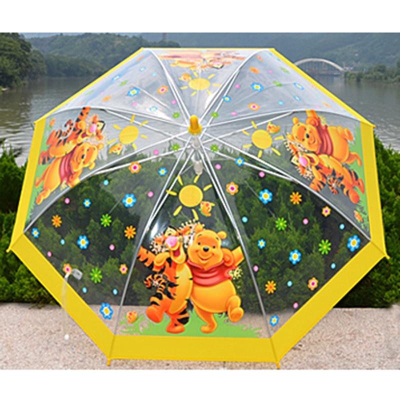 Winnie The Pooh Rain: Winnie The Pooh Cartoon Umbrella Transparent Umbrella Kids