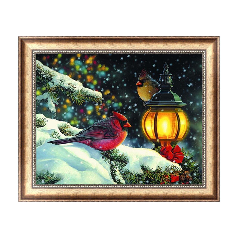 Christmas DIY 5D Diamond Painting Birds In Night Elf On The Shelf Broderie Diamant Diama ...