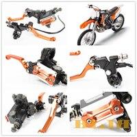 8 Colors CNC 7/8 Universal For KTM 300 200 XC W EXC 150 125 SX XC Dirt Pit Bike Clutch Brake Master Cylinder Reservoir Levers