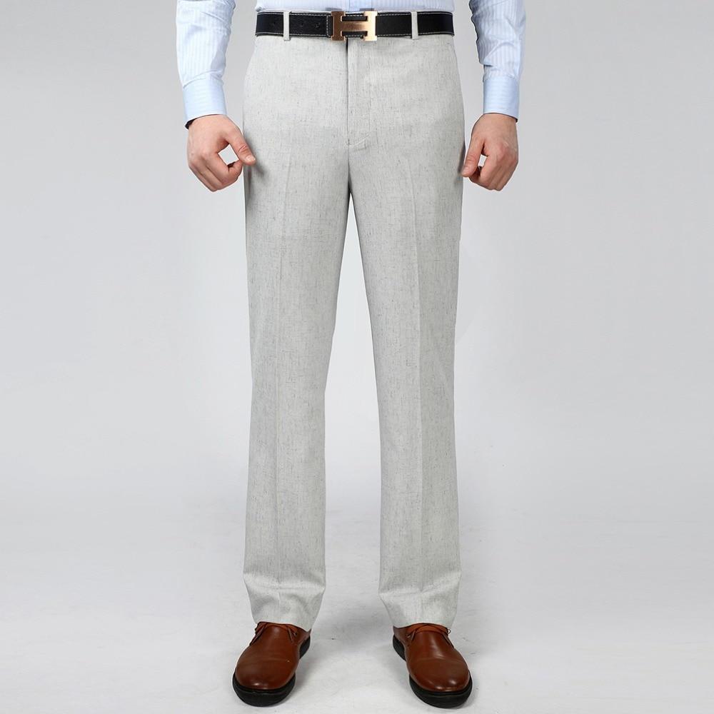 2016 Men S Linen Dress Pants Summer Thin Suit Pants For Man Business