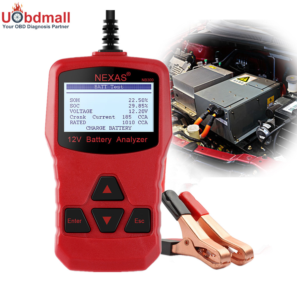 Prix pour NEXAS NB300 Voiture Testeur de Batterie 12 V Numérique Analyseur de Batterie Multi Langues pour Démarrage Système/Batterie Charge/De Charge tension