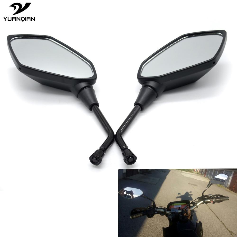Honda CBF CBF125 Mirrors Pair Black 10mm 2009 2010 2011 2012