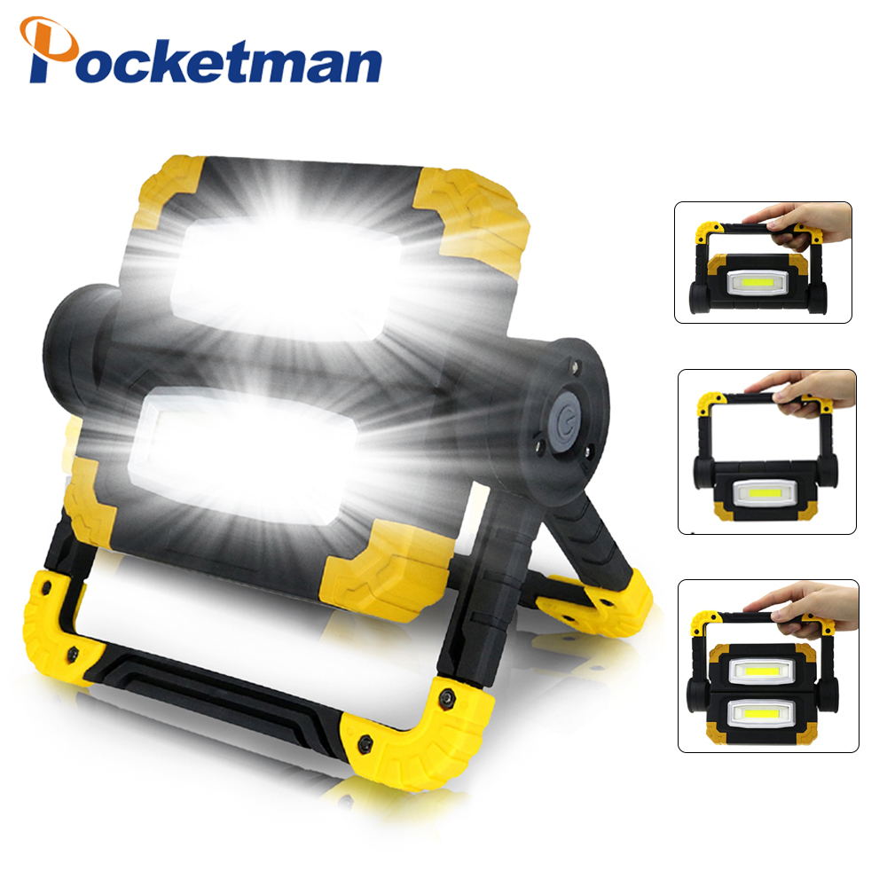Powerful Led Portable Spotlight Waterproof Searchlight Led Work Light 150W Led Work Light Use 4*AA Battery For Hunting Camping