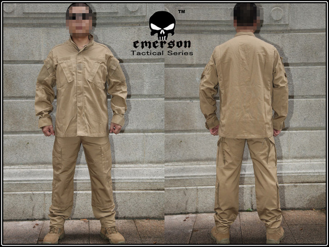Military Airsoft BDU Combat Uniform EMERSON ARMY Shirt   Pants Coyote Brown  EM6903 7359aa33418
