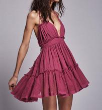 Boho Short Dress Women Backless High Waist Summer Vintage Beach Sundress Vestidos Party Dresses