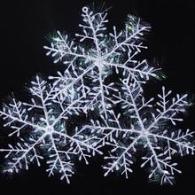 30pcs/lot Christmas Ornament Plastic Snowflake 11cm