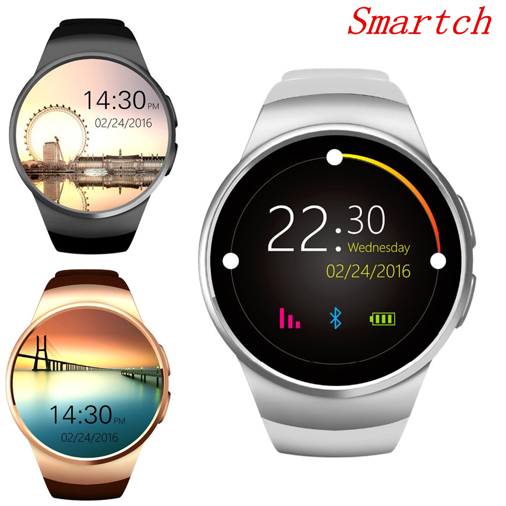 Smartch Bluetooth KW18 montre intelligente pour Samsung HTC Huawei LG Xiaomi Android Smartphones prise en charge synchronisation appel Messager