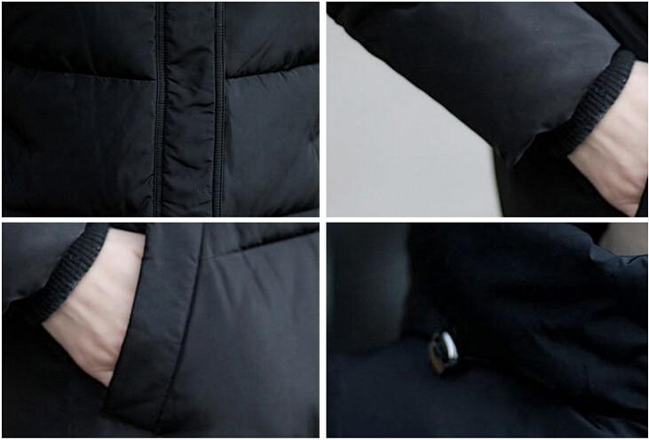 Taille Conception D'hiver rembourré Vestes 2018new De Long vert Veste Ouatée Épaississement Manteaux Noir Pardessus Couleur La Coton Bonbons rouge Mode blanc Plus Femmes amp; 6wTSnq5Sfd
