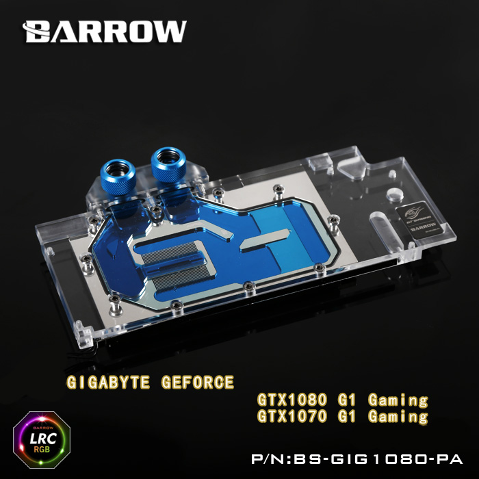 Barrow BS-GIG1080-PA LRC RGB v1/v2 Full Cover Graphics Card Water Cooling Block for GIGABYTR GTX1080/1070 G1 Gaming купить