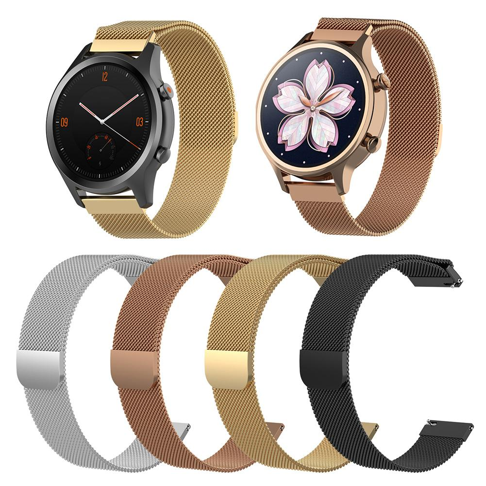 Magnetic Milanese Replacement Watch Band Stainless Steel  Wrist Strap Softness  Adjustable 18MM / 20MM For Tic Watch C2-in Smart Accessories from Consumer Electronics