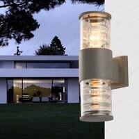 6 W/10 W/14 W LED Outdoor Wandkandelaars Up/Down Lamp Armatuur Tuin Kelder Deur waterdichte Licht E27 Lamp Grijze Afwerking-in Schijnwerpers van Licht & verlichting op