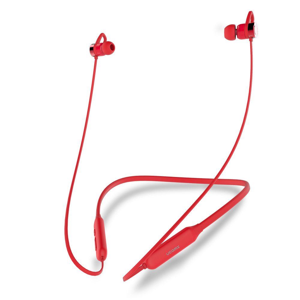 UCOMX Wireless Bluetooth Earphone Sports Neckband Headset Stereo In-Ear Music Headphone with Microphone for iPhone Samsung stylish in ear earphone w microphone for samsung i9500 i9300 orange