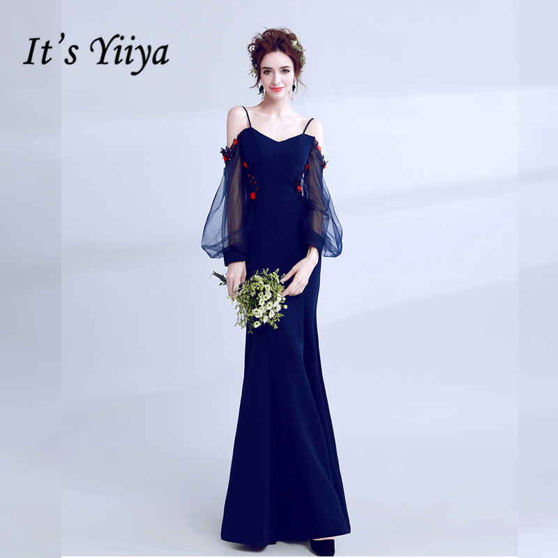It's YiiYa Fashion Designer Prom Gown Simple Flower Pattern Mermaid Unique Mermaid Dress Pattern