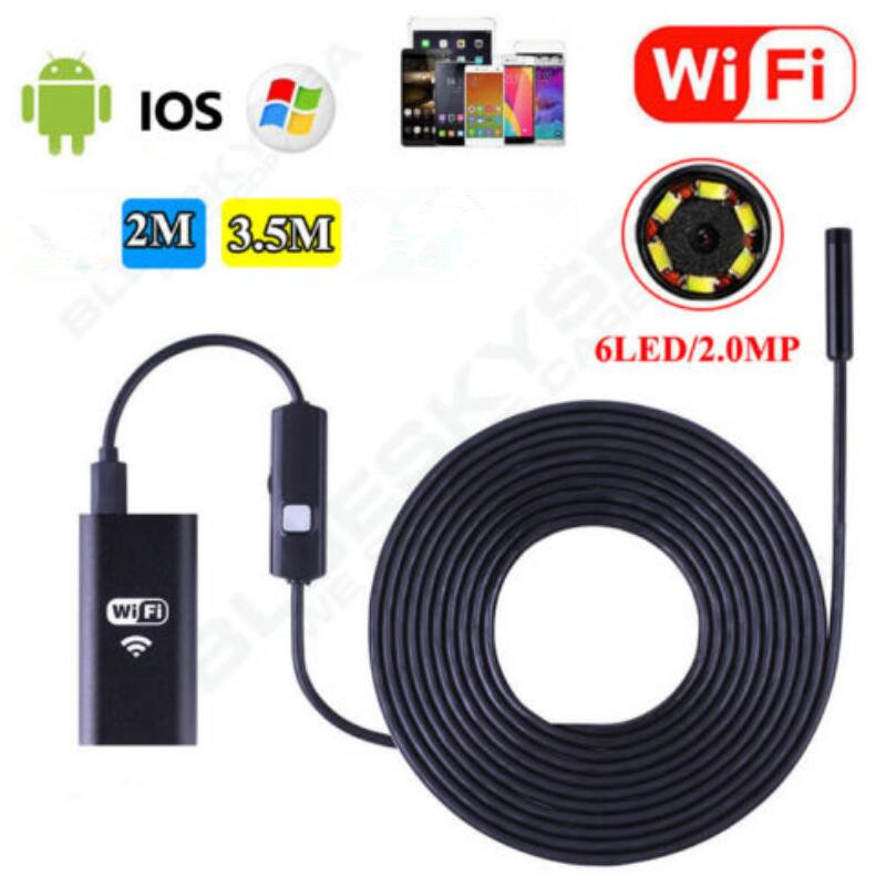 8mm Wifi Endoscope Soft Cable Mini Smartphone Camera Android HD 720P Surveillance Tube Pipe Iphone Endoscope Ip67 Inspection8mm Wifi Endoscope Soft Cable Mini Smartphone Camera Android HD 720P Surveillance Tube Pipe Iphone Endoscope Ip67 Inspection