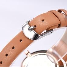 ONLYOU Ultra-thin Womens Watches Charm fashion Ladies Watch Dess Leisure Quartz Wristwatch Orange white Leather Womens watches d