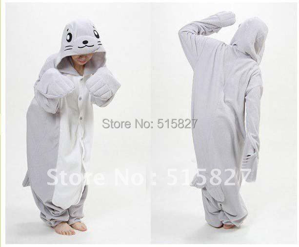 Hot JP Anime Dolphin Costume Adult all in one Pyjamas Hoodie Onesie Pajamas party costume in Stock