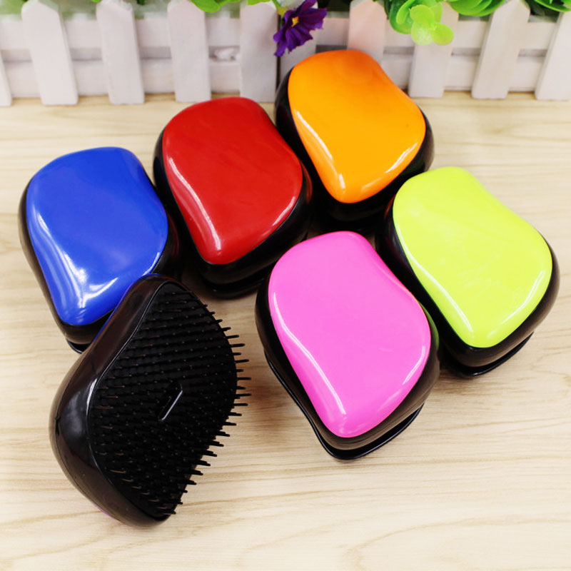 AT FASHION Magic Anti static Hair Comb Brush Handle Tangle Detangling Comb Shower Colorful Massage Hair