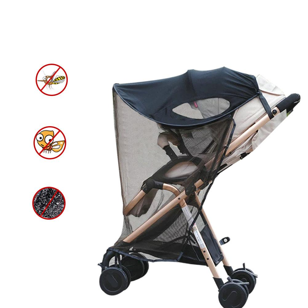 Summer must Baby Universal Anti-UV Windproof Insect Mosquito Repellent Sun Shade For Strollers Car Seat Black