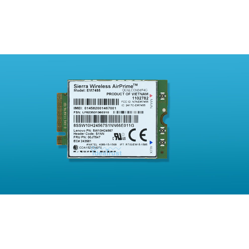 Gobi6000 EM7455 FRU 00JT547 00JT542 FDD TDD LTE 4g WWAN Carte Réseau pour Lenovo T460 T460p T460s L460 L560 yoga 260 P40 P50 P70