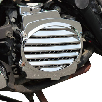 Motorcycle scooter chrome / imitation carbon fiber cooling box cover Fan cover For HONDA DIOZ4 SCOOPY AF58 ZOOMER image