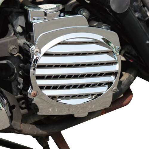 Motorcycle scooter chrome / imitation carbon fiber cooling box cover Fan cover For <font><b>HONDA</b></font> DIOZ4 SCOOPY <font><b>AF58</b></font> <font><b>ZOOMER</b></font> image