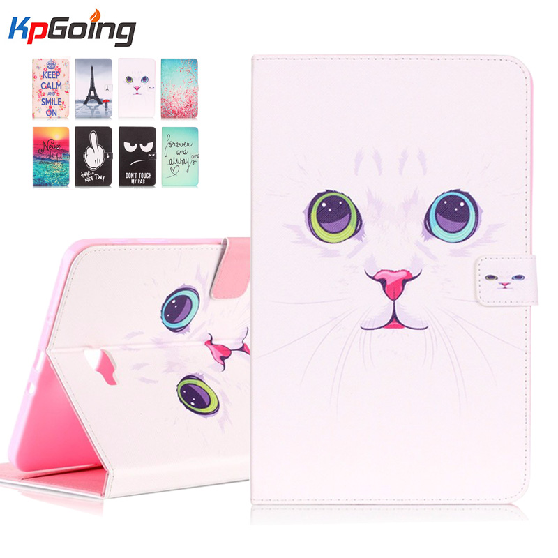все цены на  Paint Case For Samsung Galaxy Tab A 10.1 2016 T580 T585 PU Leather Stand Case Cover For Samsung Galaxy Tab A 10.1