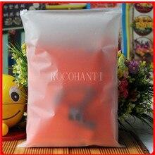 100x rocohanti пользовательские печатные белый блок слайдер уплотнение почтовый замок пластиковые мешки ясно передняя матовый back 30×40 cm