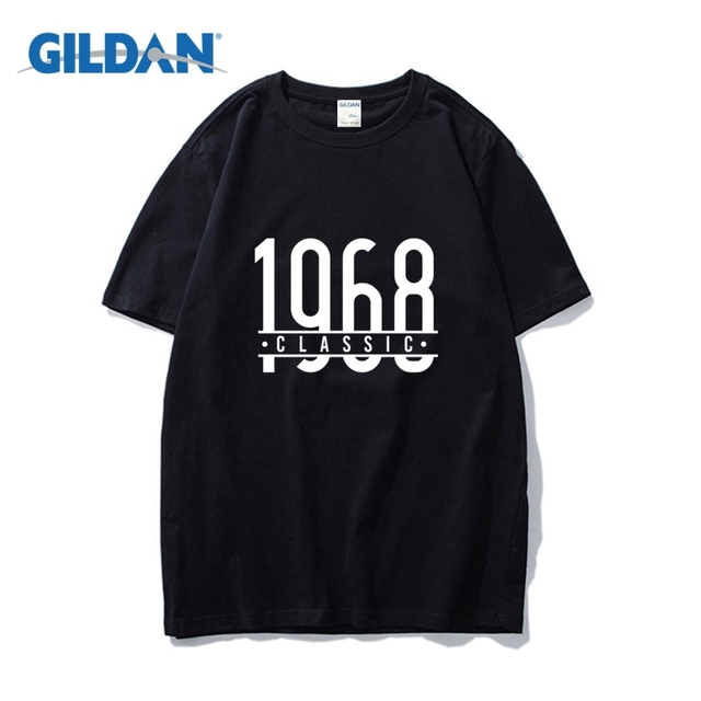 Born In 1968 50th Birthday Classic T Shirts 2018 Young Shirt Design Custom Clothes Made