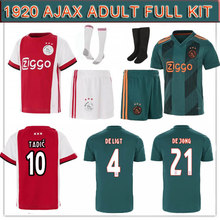 2019 2020 new arrive ajax soccer jerseys home away shirts adult 19 20 full kit man football shirt S-XL fastest 10 days arrive(China)