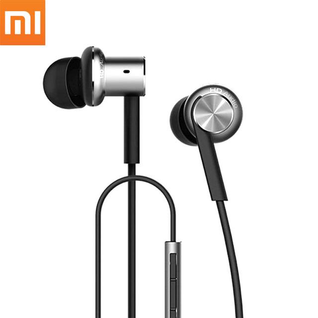 Original xiaomi híbrido hifi en la oreja los auriculares auriculares bajos de metal anillo de círculo de hierro auriculares con micrófonos mems para el teléfono xiaomi