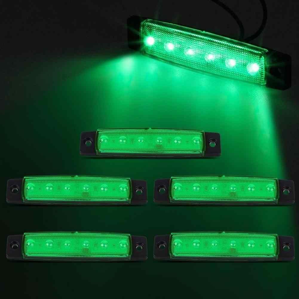 عالية الطاقة 6 LED 12 فولت الجانب مؤشر ضوء ماركر مصباح لشاحنة حافلة مقطورة أبيض/أحمر/أصفر/أزرق/أخضر مصابيح العلامات الجانبية مصباح