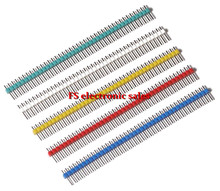 100 pcs 40 Pin 1x40 Single Row Male 2 54 Breakable Pin Header Connector Strip for