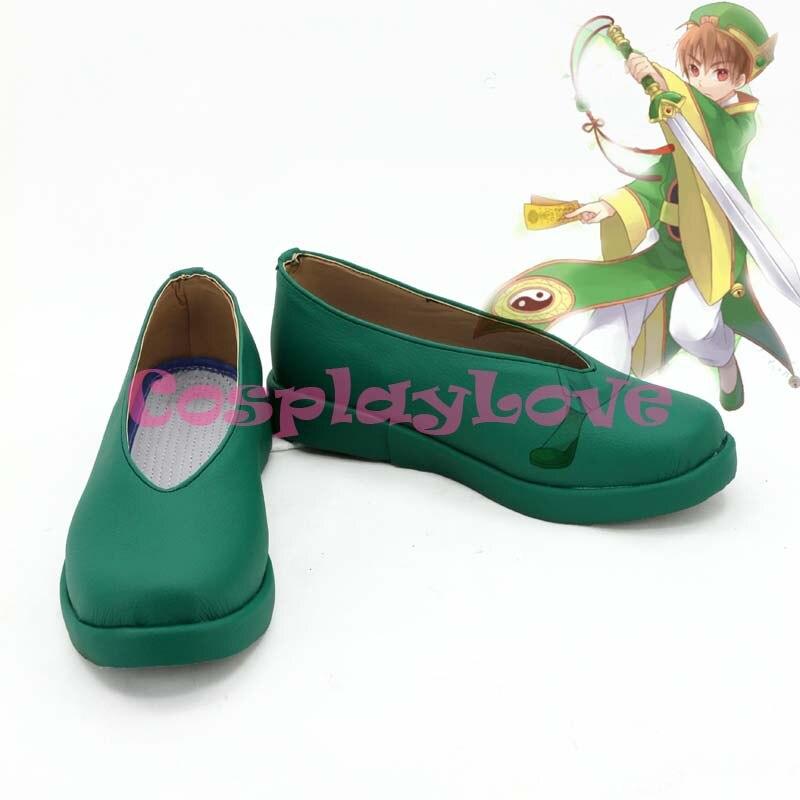 Cardcaptor Sakura Syaoran Li vert Cosplay chaussures bottes faites à la main pour Halloween noël Festival CosplayLove