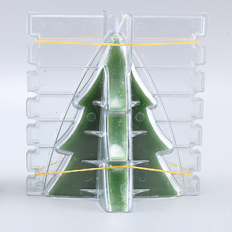 1pcs Cross Shape Christmas Tree Candle Plastic Mould DIY Manual Mold Reusable For Candles Soap Cakes Chocolate Jelly Molds