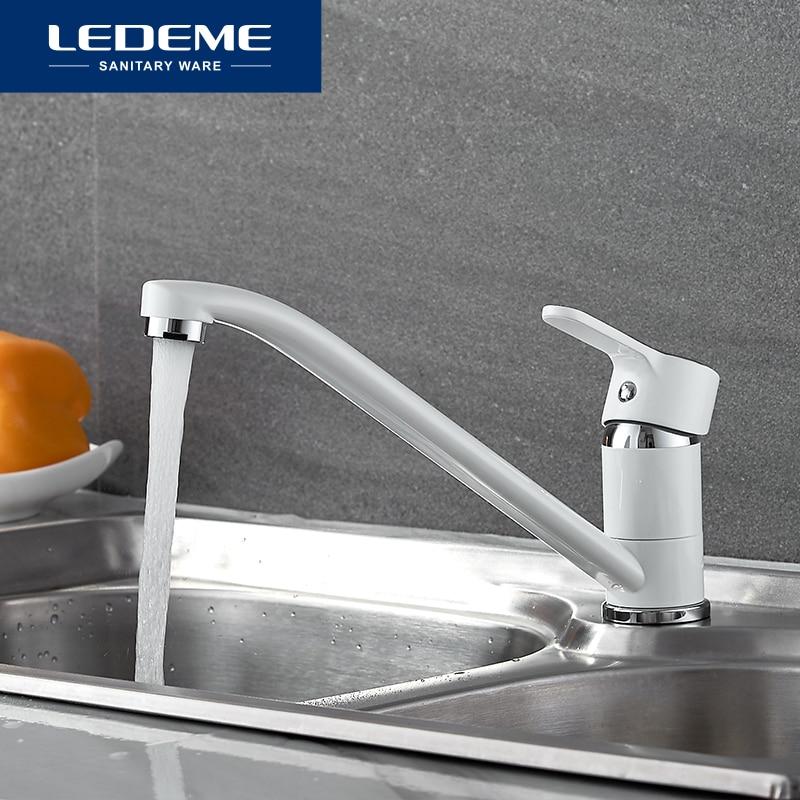 LEDEME Cuisine Robinet Long Tuyau 360 Degrés Rotation avec Purification De L'eau Caractéristiques Pulvérisation Peinture Mitigeur L4903W