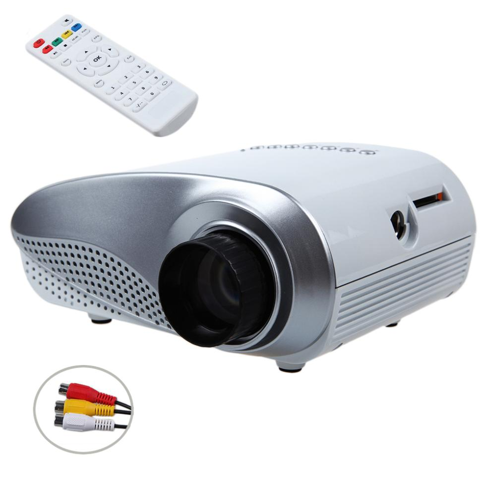 White Mini 1080P HD npoektop LED Portable Projector Home Cinema Support AV TV VGA HDMI Video Games for LED TV 60 inch