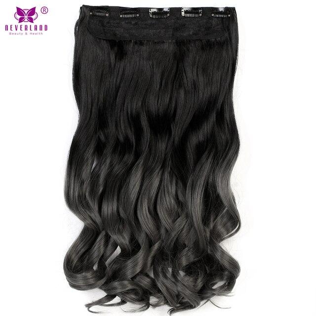 Aimei 24 60cm Women Long Wavy Ombre Color False Hair One Piece Clip