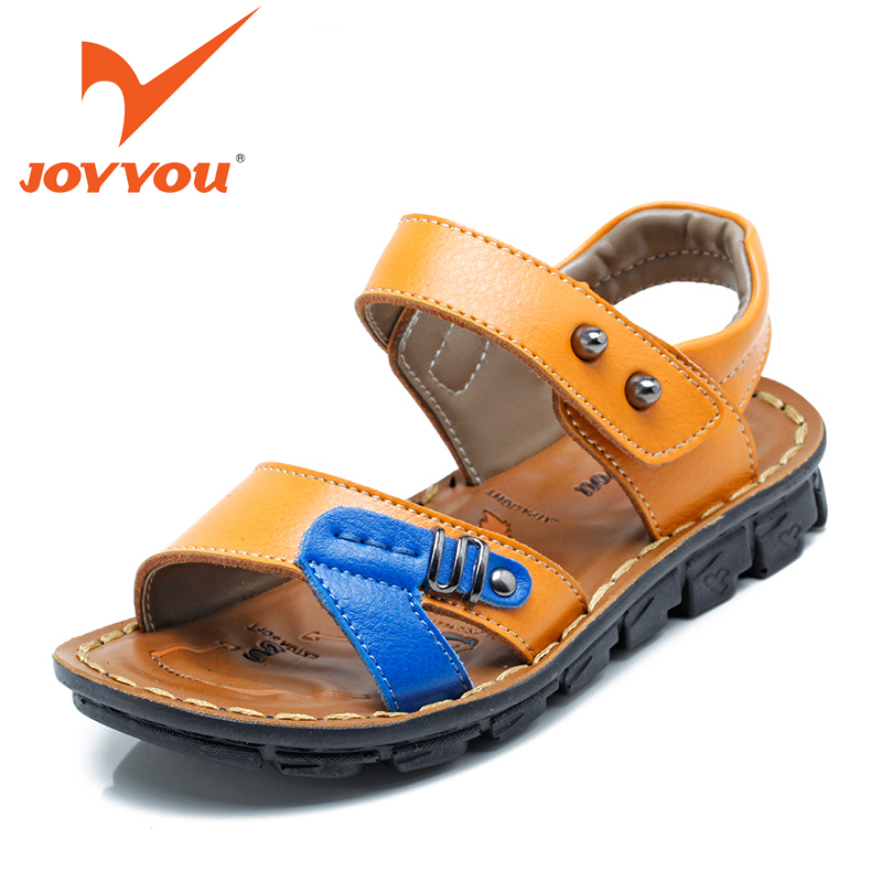 JOYYOU Brand 2017 Kids Sandals Baby Boys Cow Leather Beach Sandals Child Shoes Little Boys Summer Shoes Open Toe Sandalias 6210  joyyou brand kids sandals baby boys girls beach sandals star rivets children shoes little boys summer shoes open toe sandalias