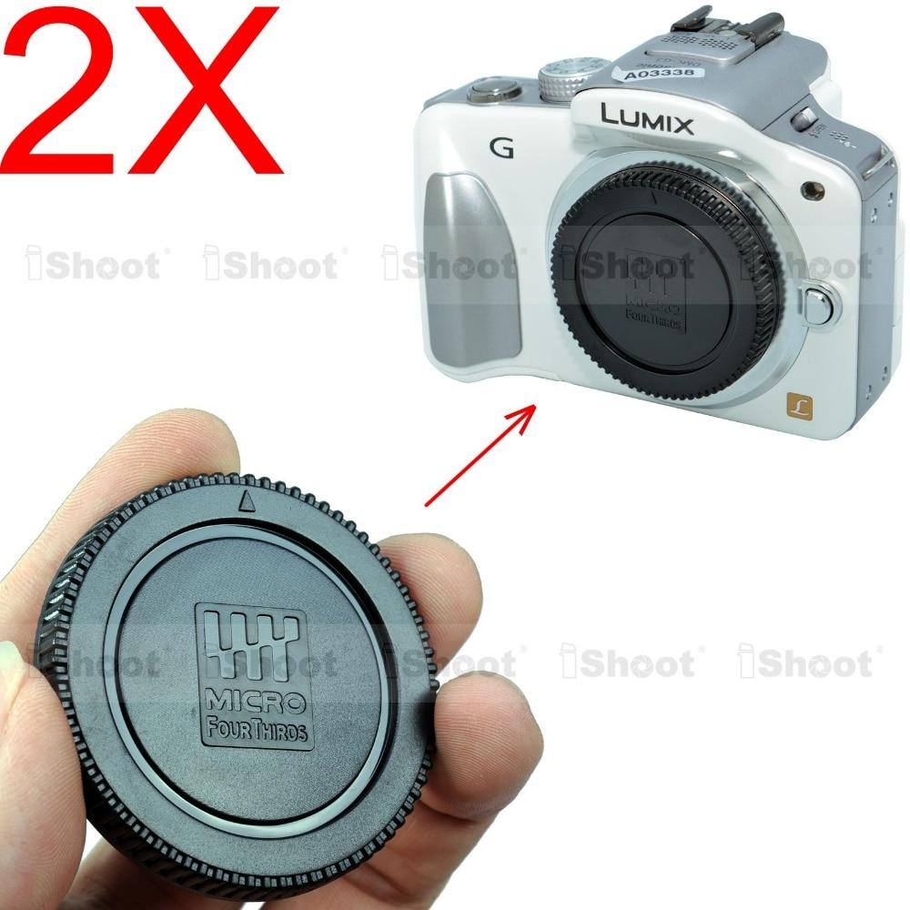 2x тело заглушка для Panasonic микро-карты четыре трети M4 / 3 камеры - LUMIX GF1 GF2 GF3 GF5 GF6 GF7 GH2 GH3 GH4 GX1 GX7 GX8 GM1 GM5