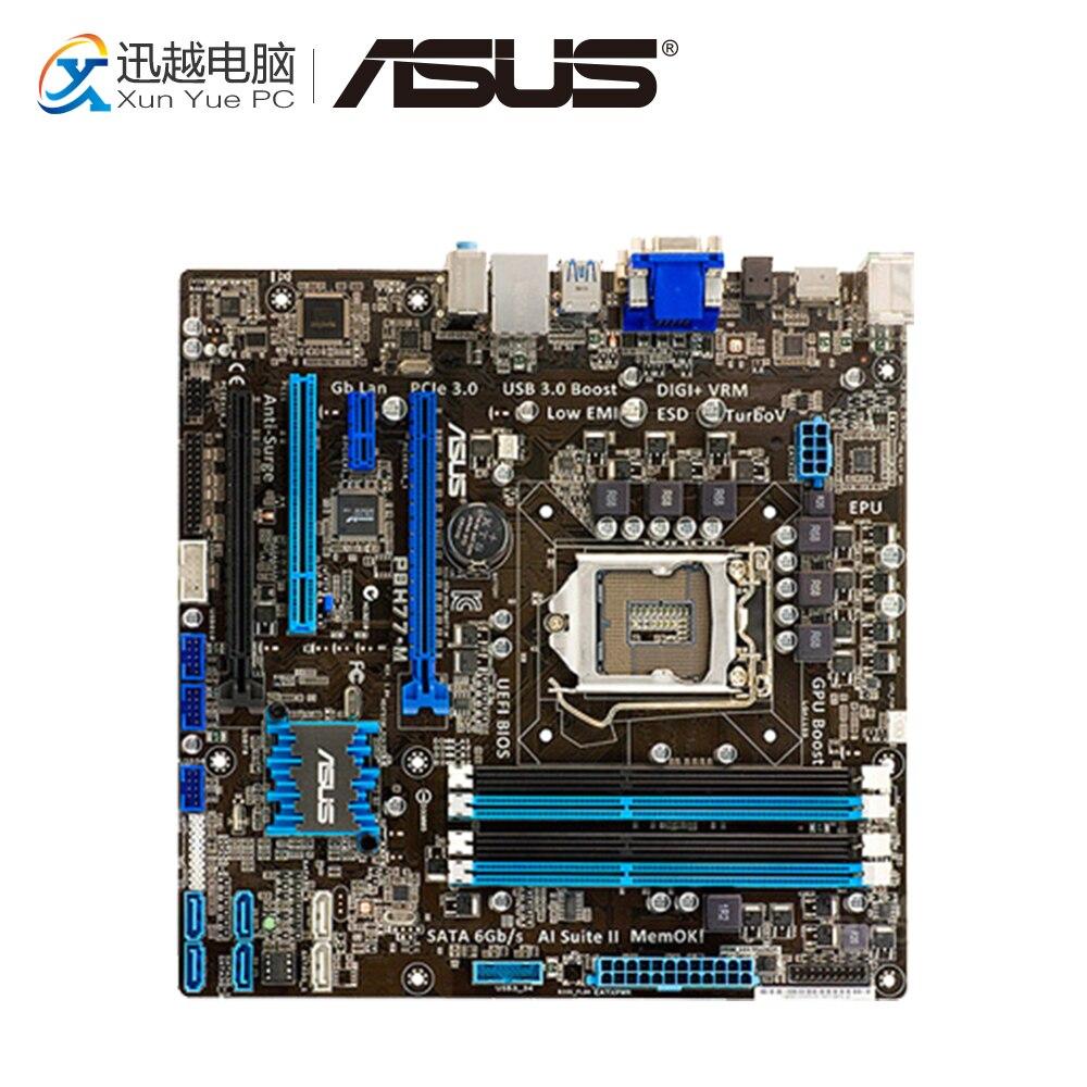 Asus P8H77-M Desktop Motherboard H77 Socket LGA 1155 i3 i5 i7 DDR3 32G SATA3 USB3.0 uATX On Sale used for asus p8h77 m pro motherboard h77 socket lga 1155 i3 i5 i7 ddr3 32g sata3 usb3 0
