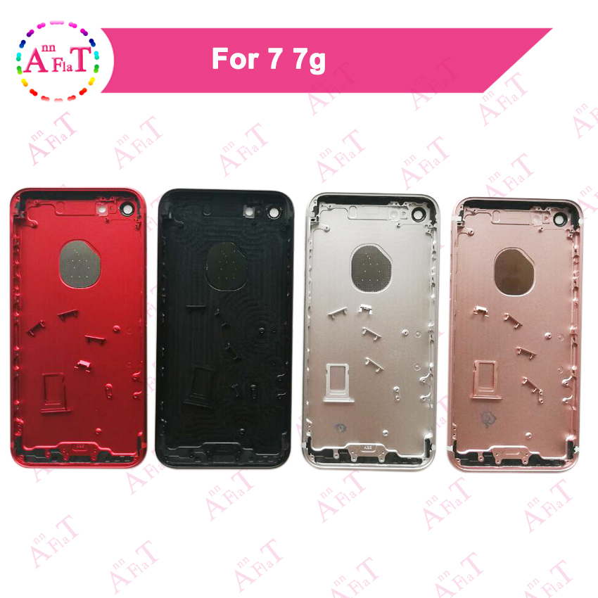 10Pcs lot AAA For IPhone 7 7G Housing Battery Cover Door Rear Cover Chassis Frame Back