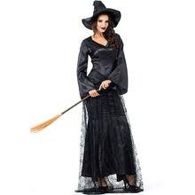 Плюс Размеры Для женщин сексуальный костюм ведьмы на Хэллоуин