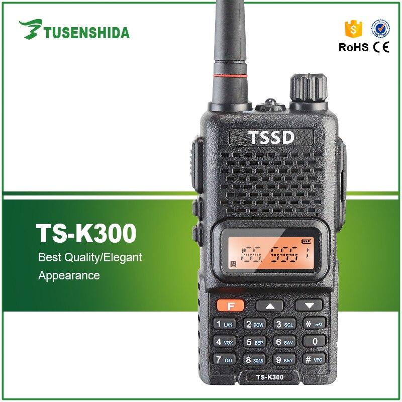 Radio bidirectionnelle portative noire de VHF de la vente 5 W chaude avec l'interphone de TS-K300 de batterie de Li-ion
