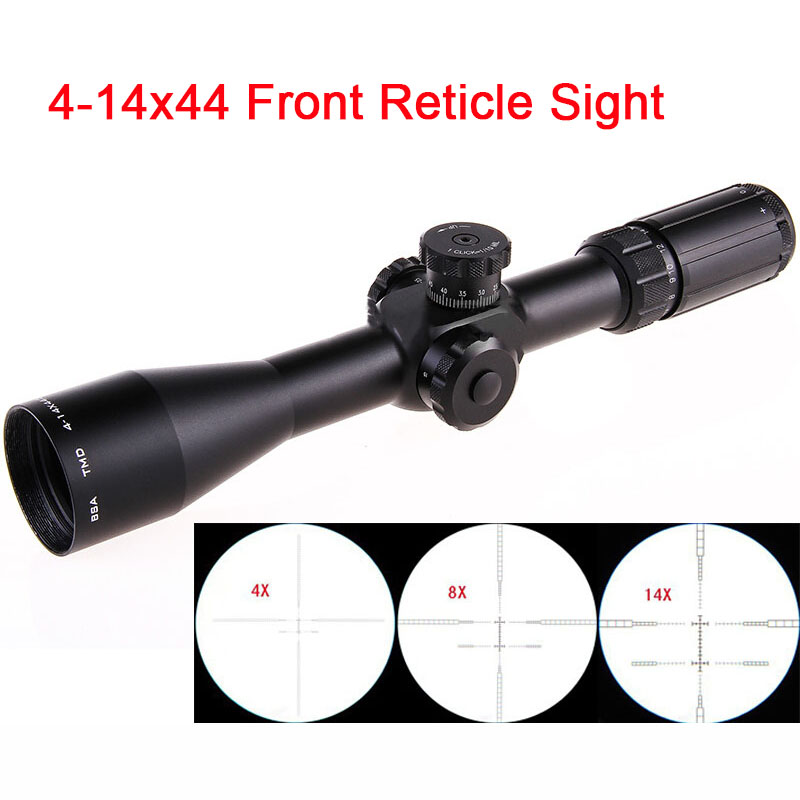 TMD4-14X44 Front Reticle Rifle Scope Sight HD Cross Shaped Mil-Dot with Lock Integrated Glass Reticle Light with Mount Ring  мультиметр iek professional my61 tmd 5s 061