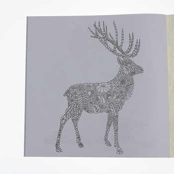 24 Pages English Animal Kingdom Graffiti Coloring Book Adult Children Drawing Sketch Coloring Book School Office Stationery