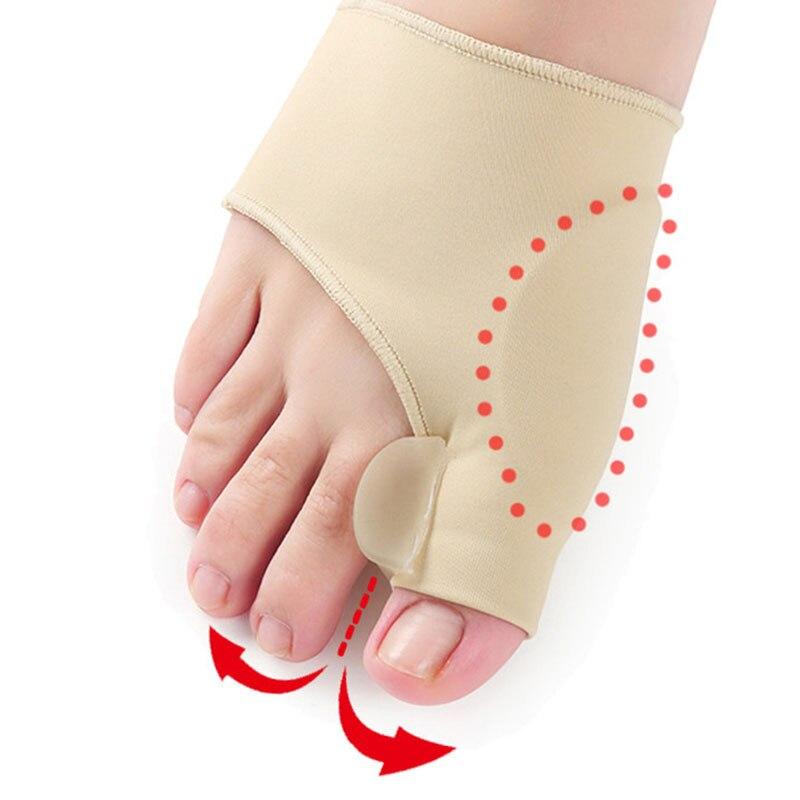 2pcs Hallux Valgus Correction Sleeve Feet Care Special Big Toe Bone Silicone Foot Thumb Orthopedic Brace Relieve Foot Thumb Pain