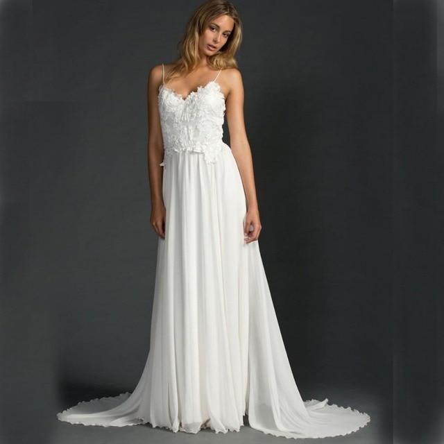 Bohemian Wedding Kleid Ivory Bräute Kleider mit Open Back ...