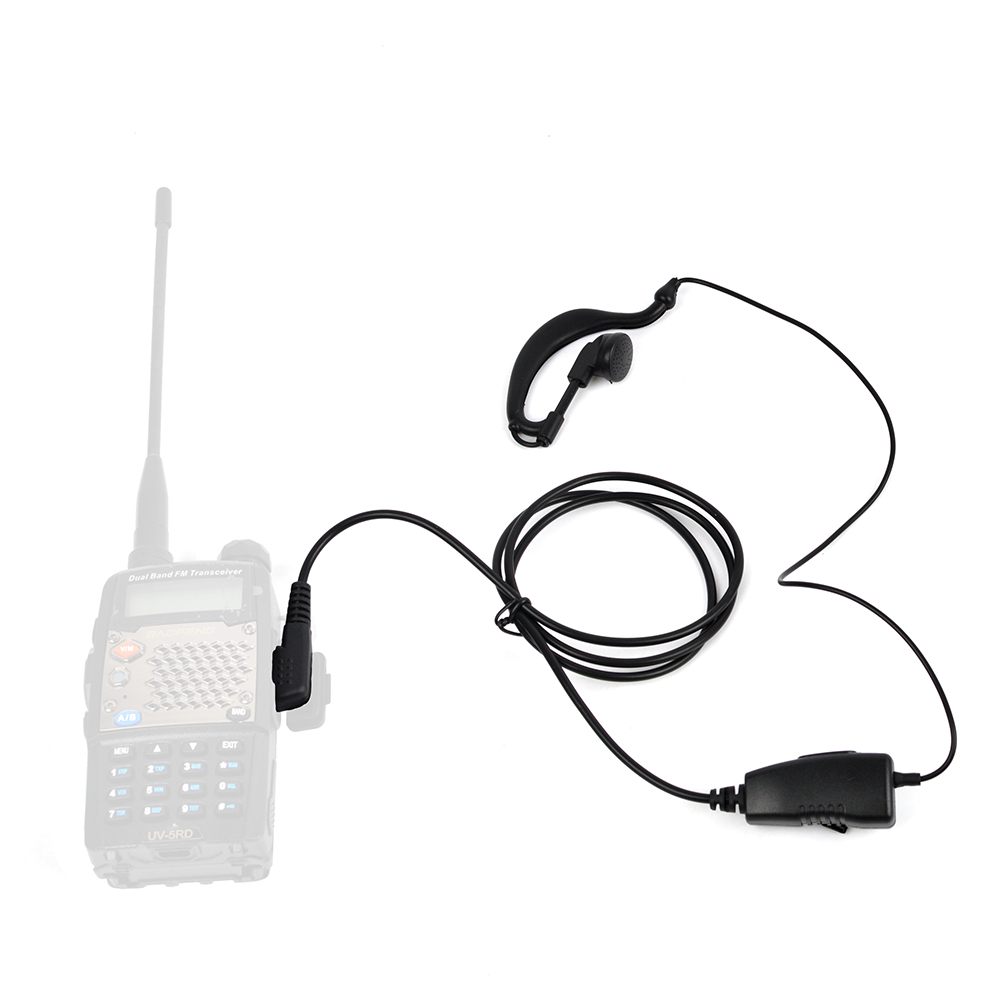 2PCS HYS BF-G06S ham radio 2 PinK Earpiece G Shape earphone Two Way Radio Headphones Noi ...